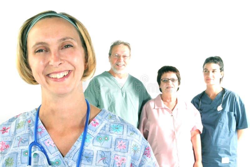 Equipe do hospital fotografia de stock