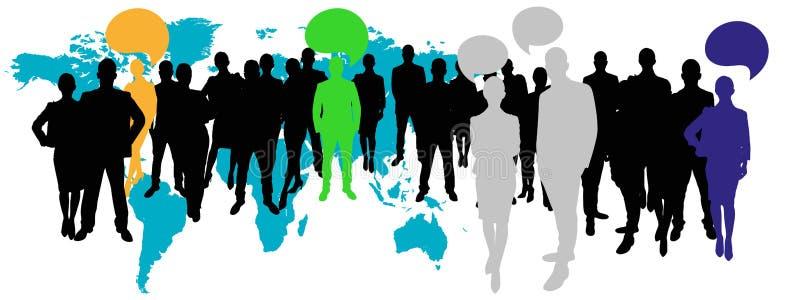 Equipe do negócio com conceito de uma comunicação ilustração do vetor