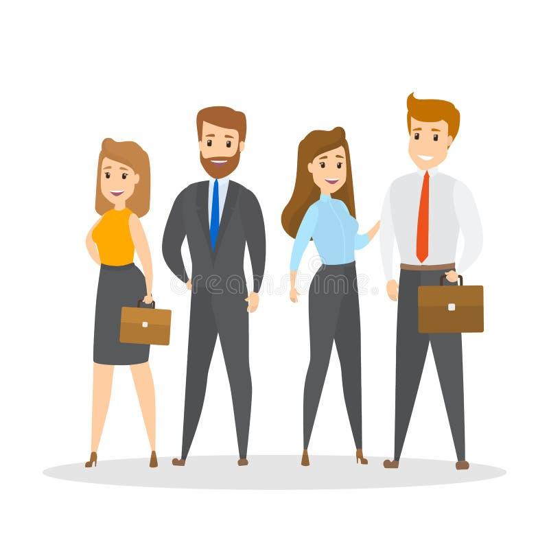 Equipe do negócio com líder ilustração do vetor
