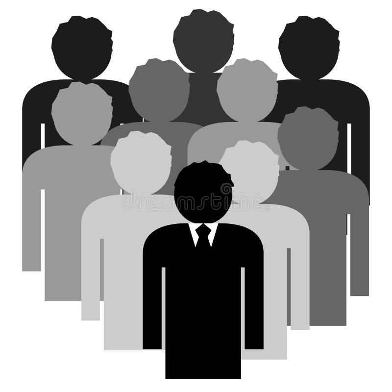 Equipe do negócio com líder do chefe ilustração royalty free
