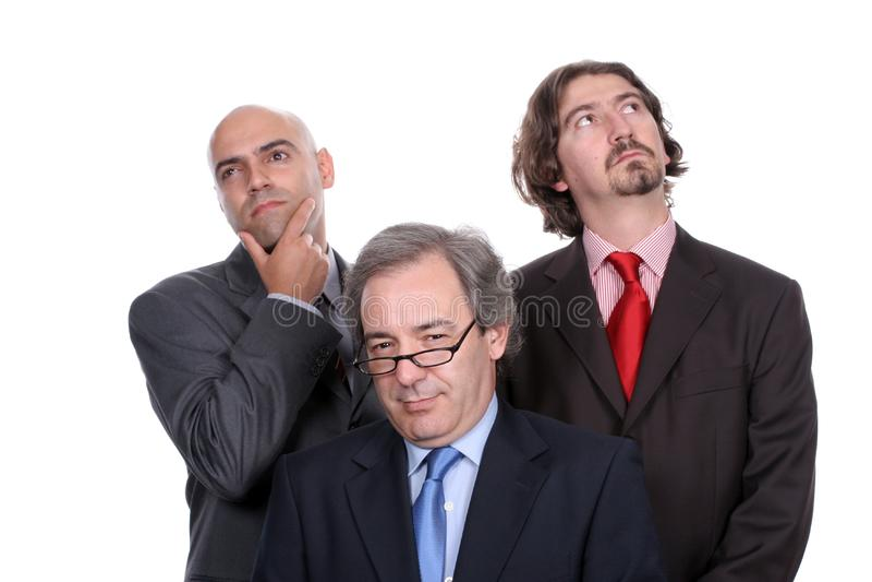 Equipe do negócio completamente dos pensamentos imagens de stock royalty free