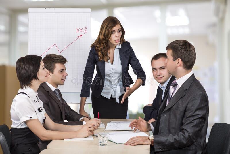 Equipe do negócio da sessão de reflexão foto de stock