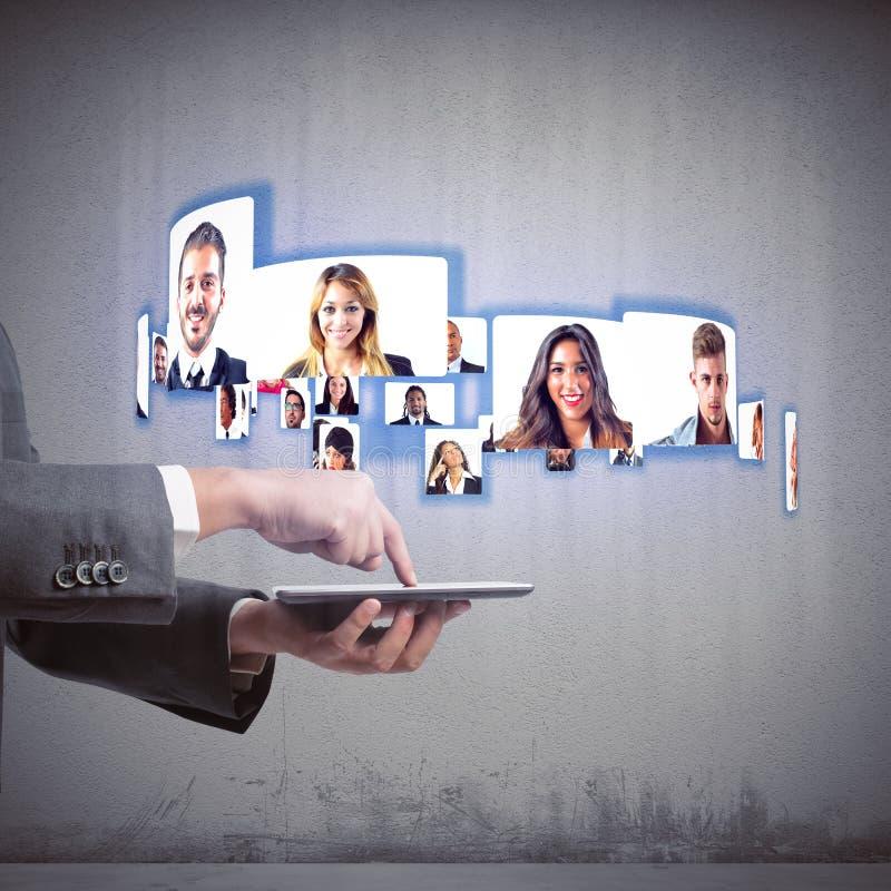 Equipe do negócio da videoconferência fotos de stock
