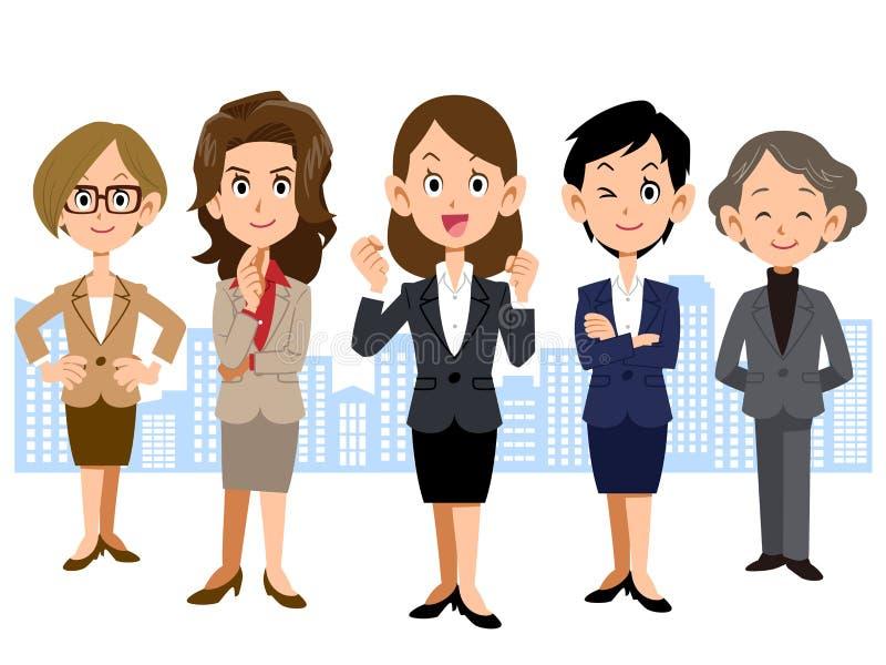 Equipe do negócio das mulheres ilustração do vetor