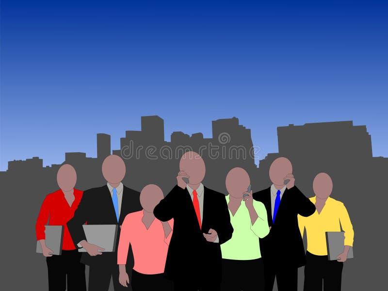 Equipe do negócio de Denver ilustração do vetor