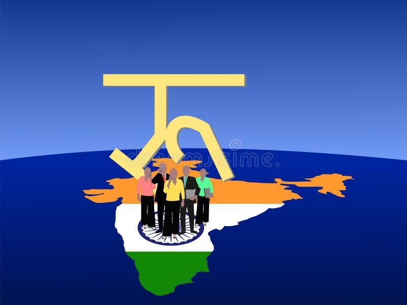 Equipe do negócio de India ilustração royalty free