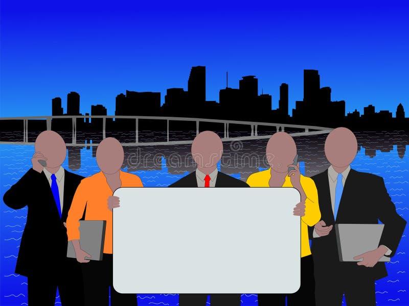 Equipe do negócio de Miami ilustração stock