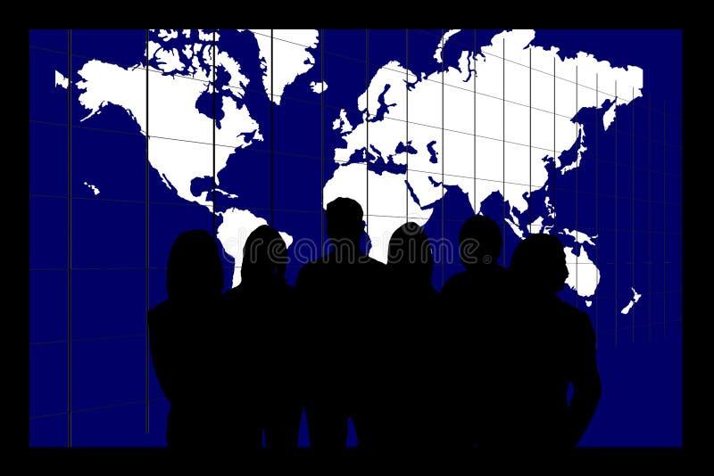 Equipe do negócio de mundo ilustração do vetor