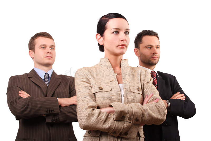 Equipe do negócio de três pessoas foto de stock