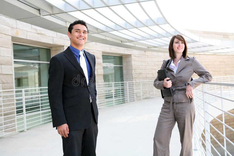 Equipe do negócio do homem e da mulher foto de stock royalty free