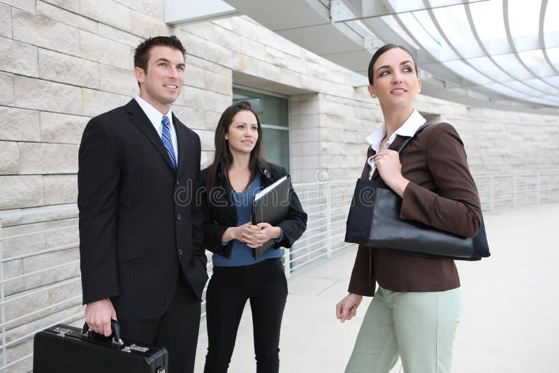 Equipe do negócio do homem e da mulher fotografia de stock royalty free