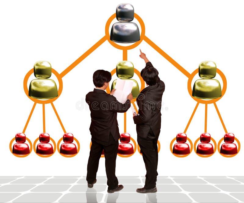 Equipe do negócio do mercado Multilevel ilustração do vetor