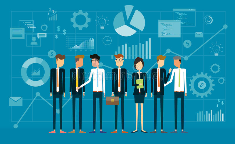 Equipe do negócio dos povos do grupo ilustração do vetor