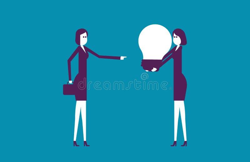 A equipe do negócio e cria ideias novas Negócio da ilustração do vetor ilustração do vetor
