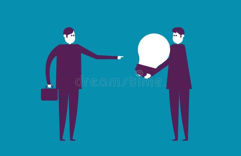 A equipe do negócio e cria ideias novas Negócio da ilustração do vetor ilustração royalty free