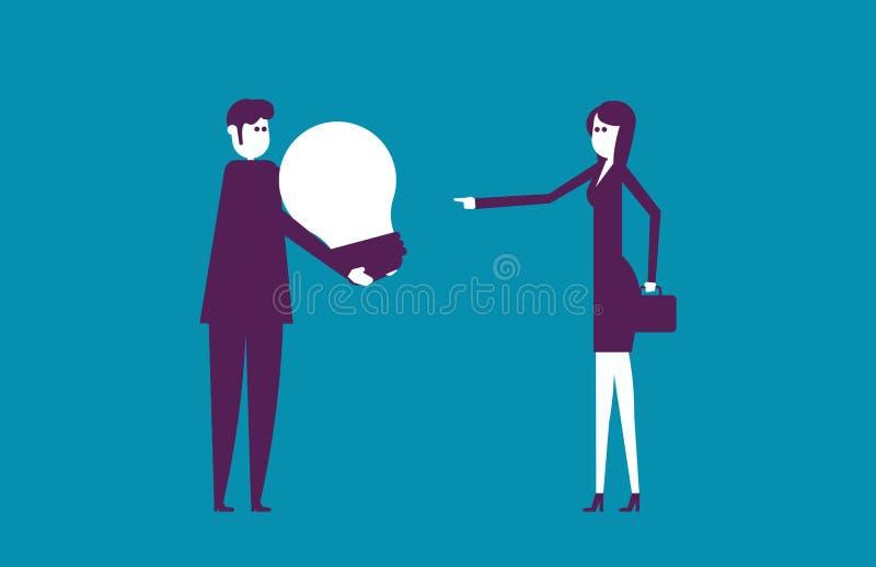 A equipe do negócio e cria ideias novas Negócio da ilustração do vetor ilustração stock