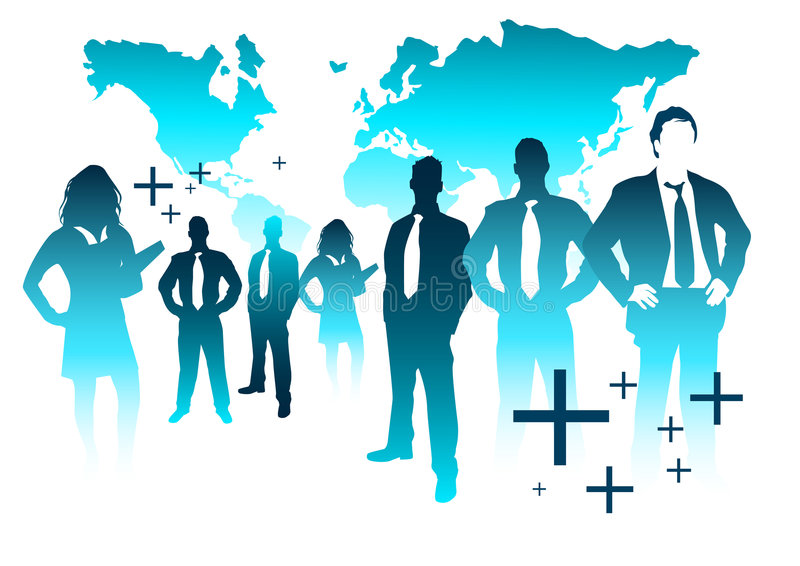 Equipe do negócio global ilustração stock