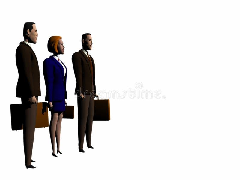 Equipe do negócio global aos succes. ilustração stock