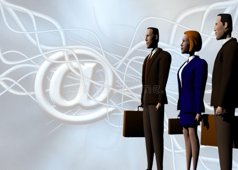 Equipe do negócio global, sua ajuda aos succes. ilustração royalty free