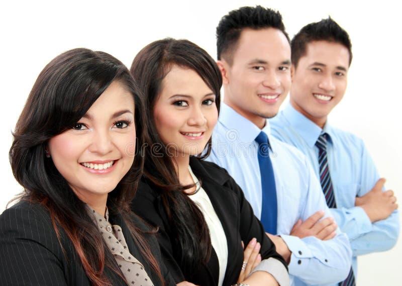 Equipe do negócio isolada no branco fotografia de stock