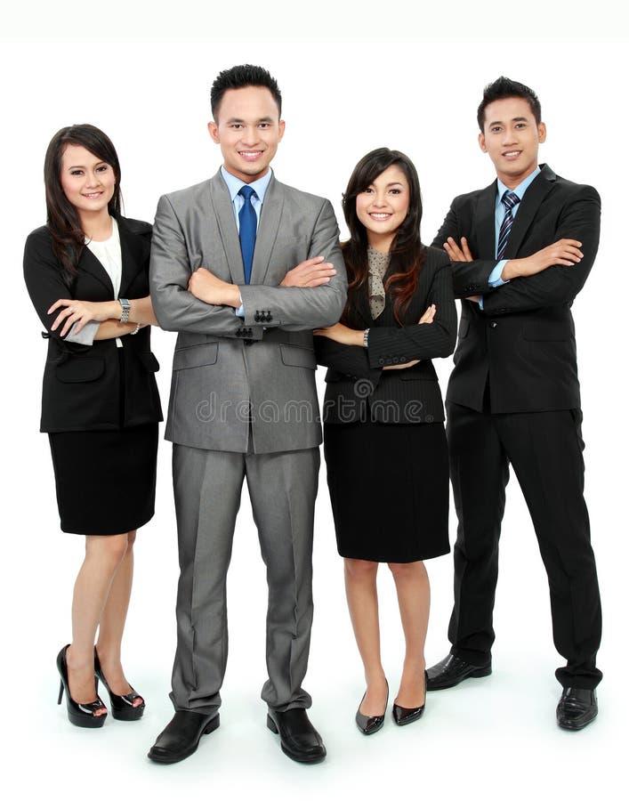 Equipe do negócio isolada no branco foto de stock