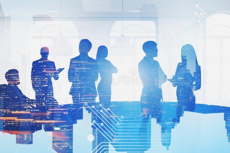Equipe do negócio no escritório, relação do negócio foto de stock