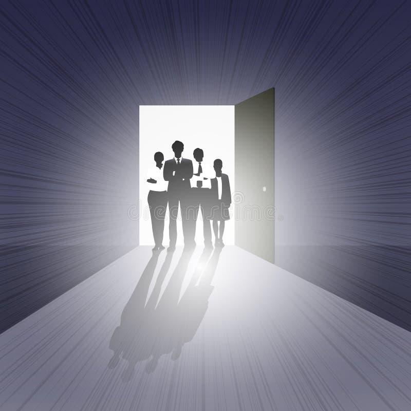 Equipe do negócio no estar aberto ilustração do vetor