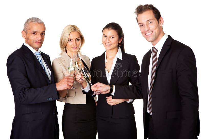 Equipe do negócio que comemora o sucesso fotos de stock royalty free