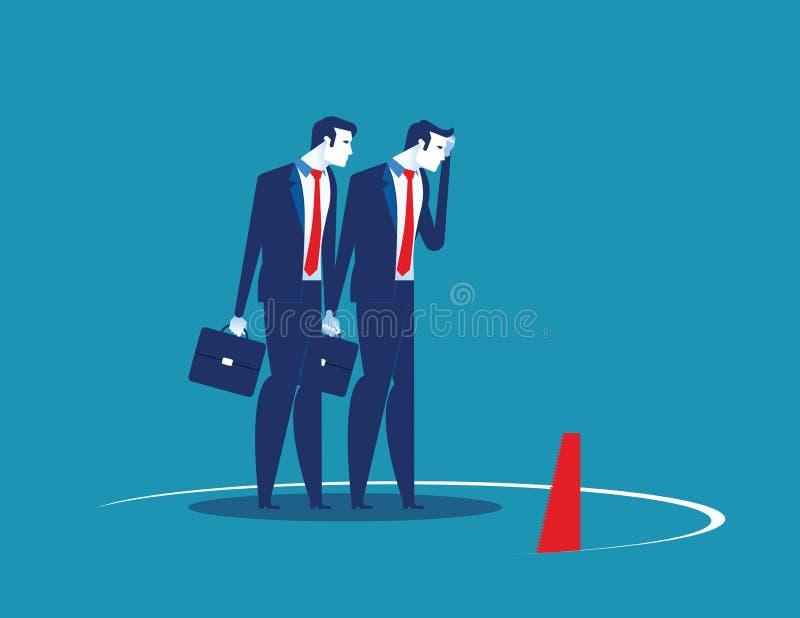 A equipe do neg?cio e a armadilha Ilustração do vetor do caráter do negócio do conceito Estilo liso do projeto ilustração do vetor