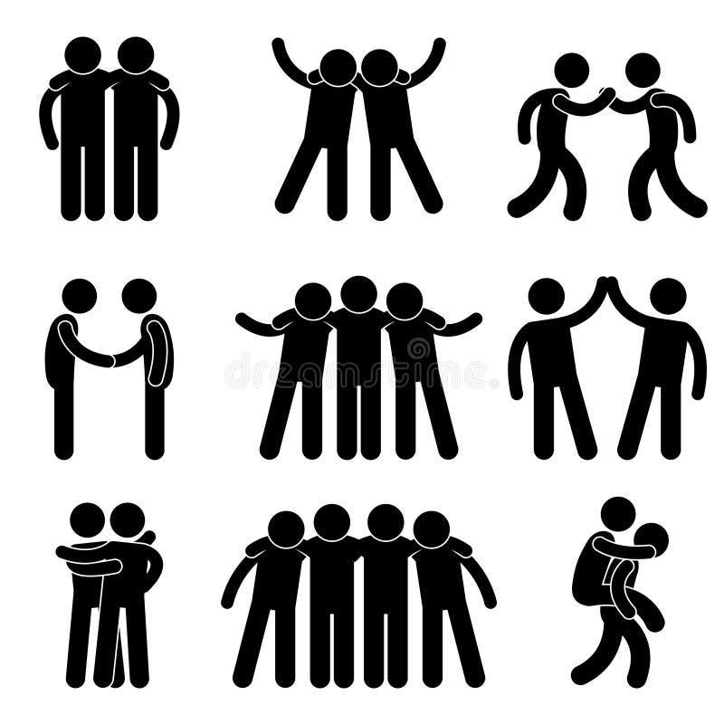 Equipe do relacionamento da amizade do amigo