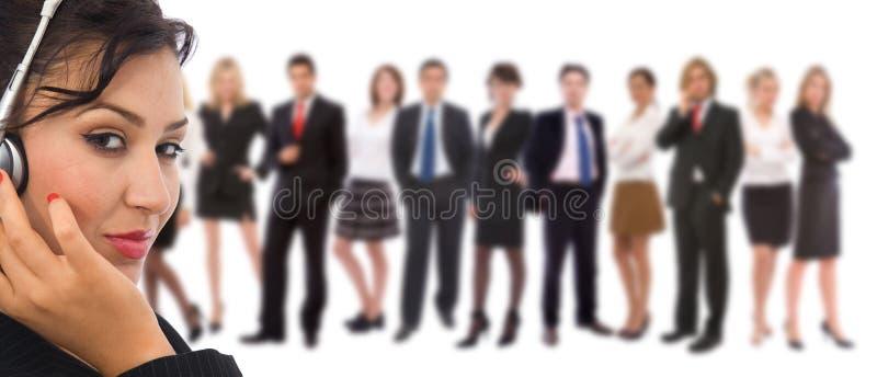 Equipe do serviço de atenção a o cliente foto de stock royalty free