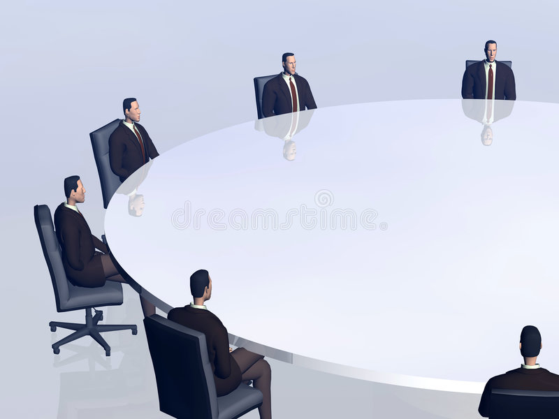 A equipe do sucesso na conferência. ilustração stock