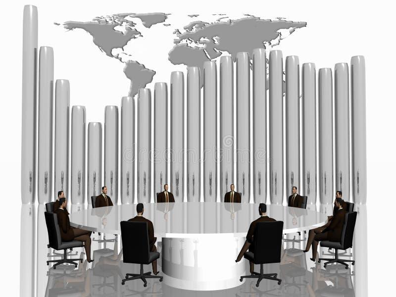 A equipe do sucesso na conferência. ilustração do vetor