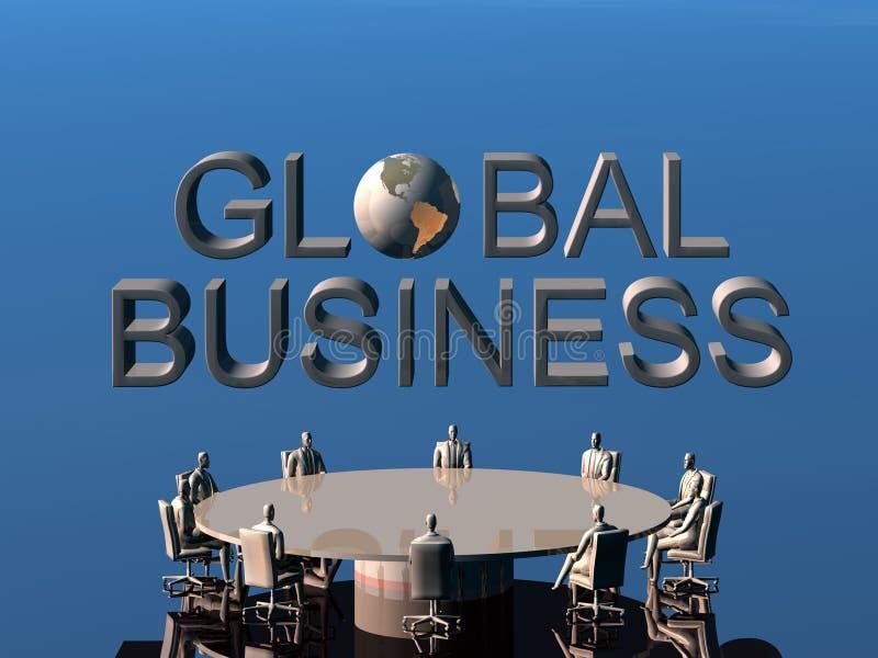 A equipe do sucesso na conferência global. ilustração royalty free