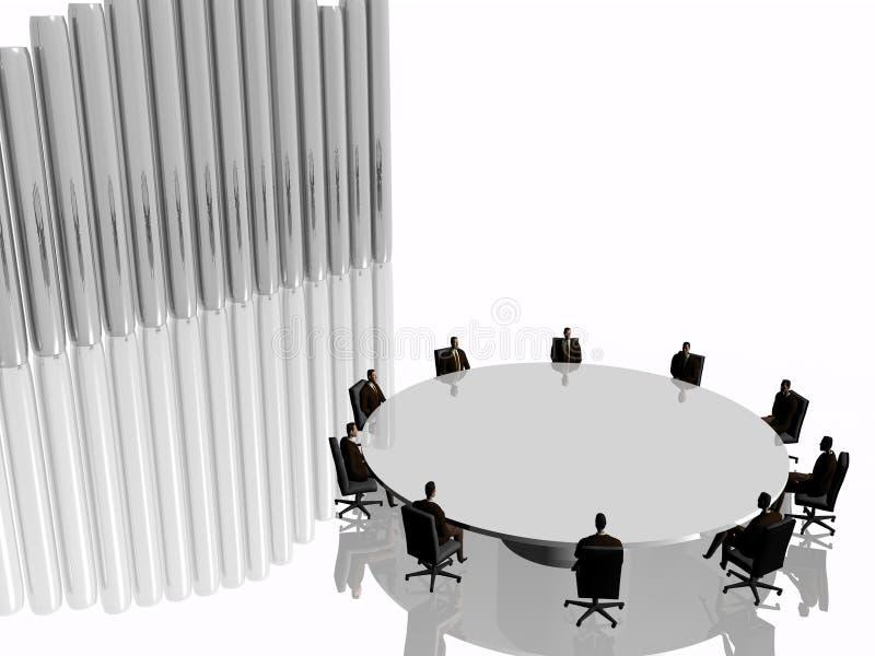 A equipe do sucesso no quarto de reunião na conferência. ilustração stock