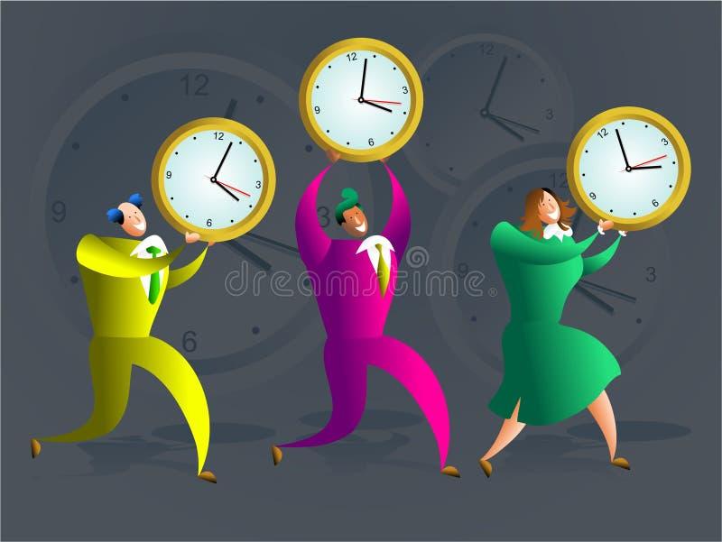 Equipe do tempo ilustração royalty free