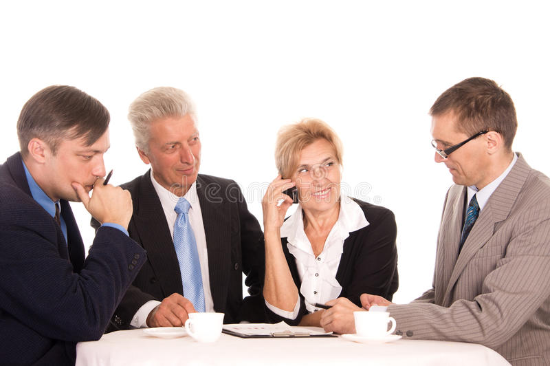 equipe do trabalho em um branco foto de stock royalty free