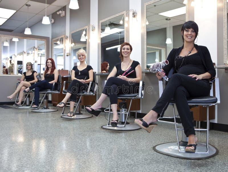 Equipe dos cabeleireiro foto de stock royalty free