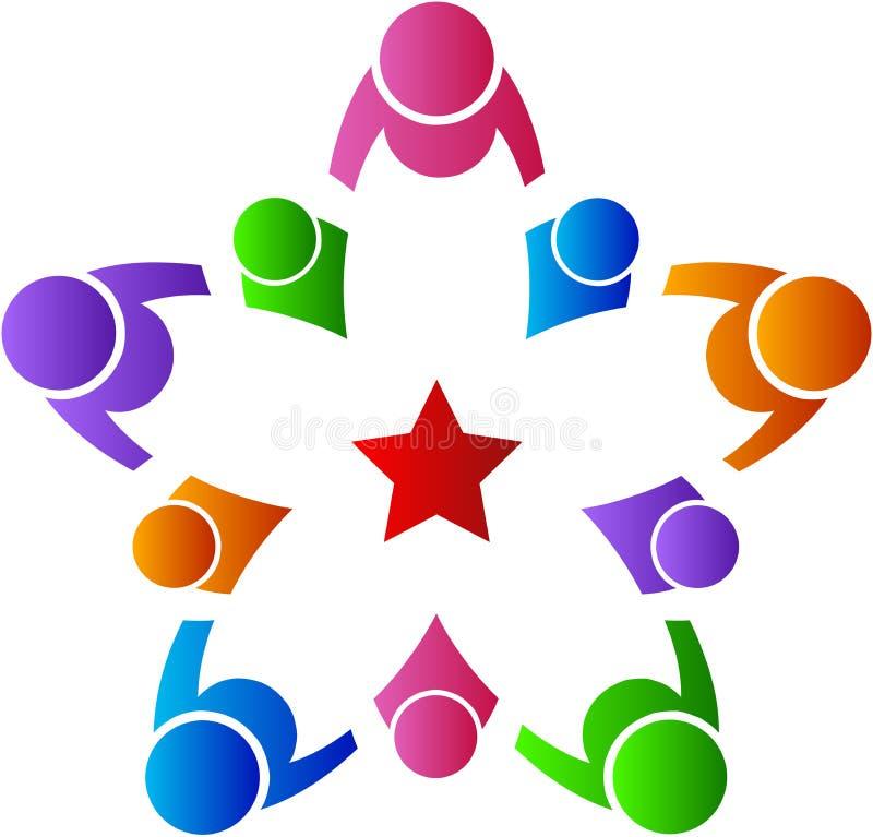 Equipe dos povos da estrela ilustração stock