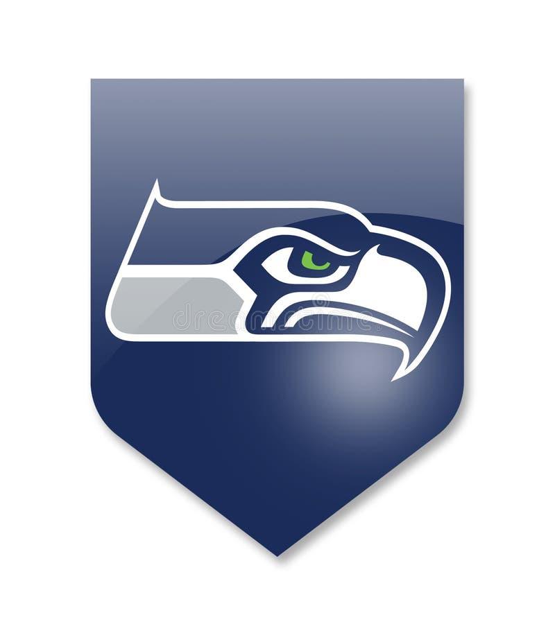 Equipe dos seahawks de Seattle ilustração royalty free