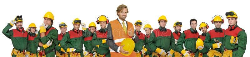 Equipe dos trabalhadores foto de stock