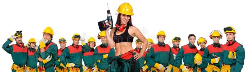 Equipe dos trabalhadores fotografia de stock