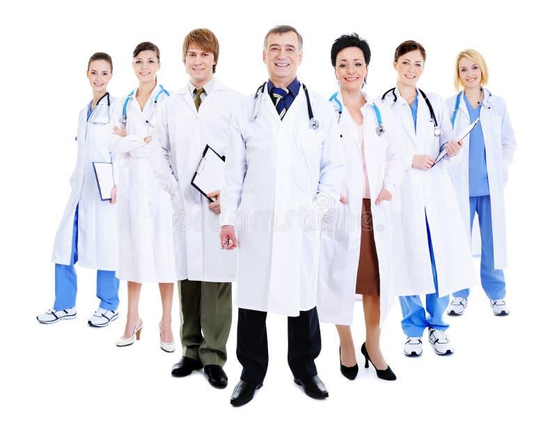 Equipe feliz de doutores bem sucedidos fotografia de stock