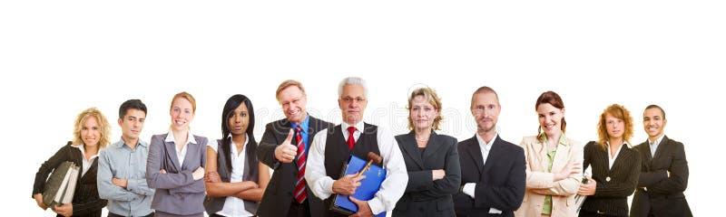 Equipe grande dos advogados imagens de stock royalty free