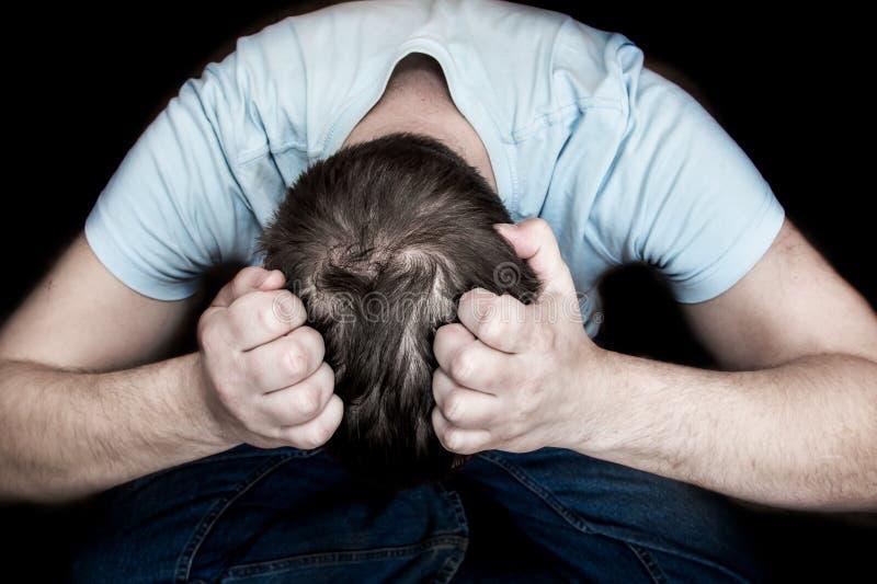 Desespero e depressão fotografia de stock