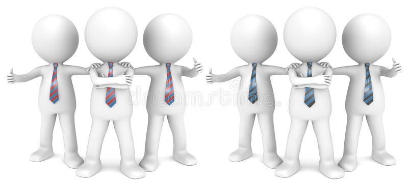 A equipe ideal. ilustração stock