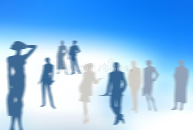 Equipe ideal do fundo dos povos ilustração do vetor