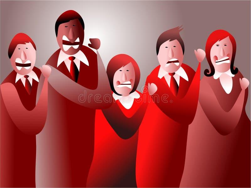 Equipe irritada ilustração stock