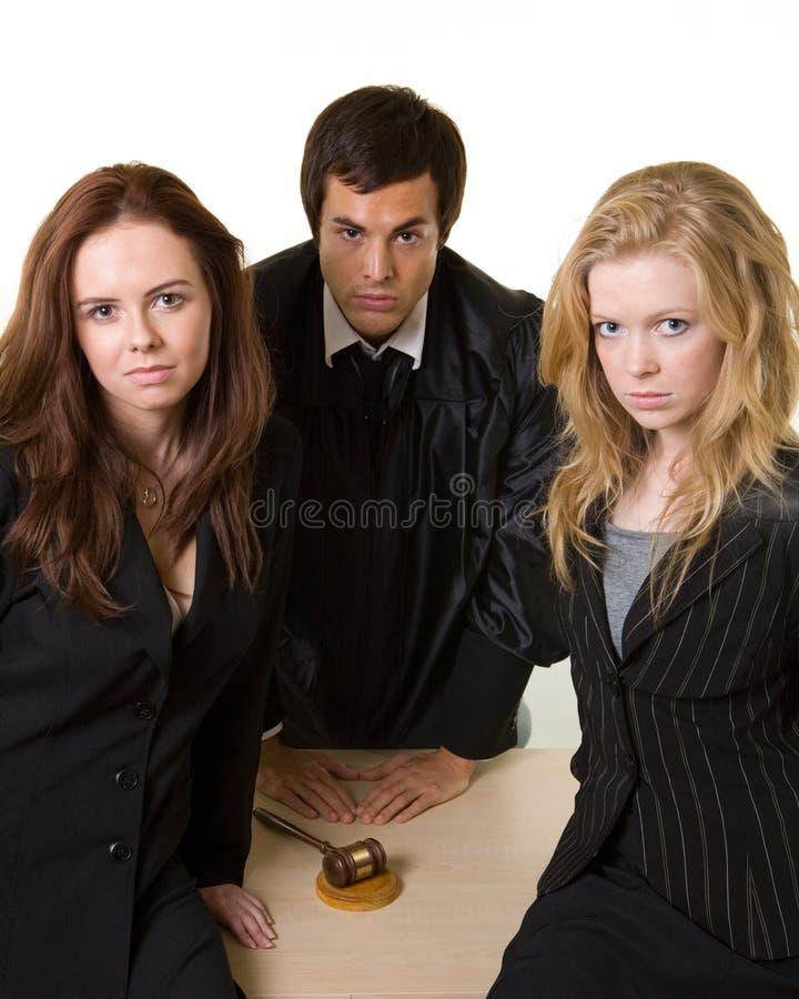 Equipe legal foto de stock