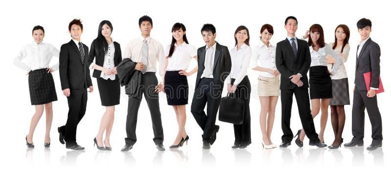 Equipe asiática do negócio imagem de stock